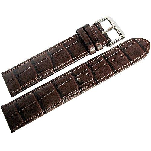 Louisiana Alligator Watch Strap - Di-Modell Bali 19mm Brown Alligator-Grain Leather Watch Strap