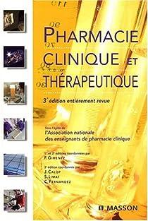 Book's Cover ofPharmacie clinique et thérapeutique