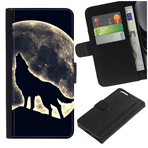[Howling Night Wolf and Moon] for Samsung Galaxy S8 Active, Flip Leather Wallet Holsters Pouch Skin Case]()