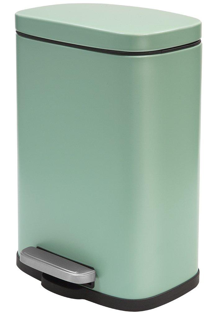 Verde Papelera con Pedal 21,4x17,6x30 cm Acero 5 litros Spirella colecci/ón Akira