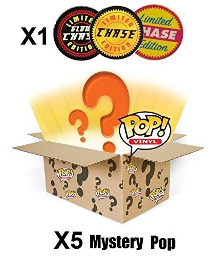POP Funko Mystery 6 Pack w/ 1 Random Limited Edition Chase - Stylized Vinyl Figure Set New