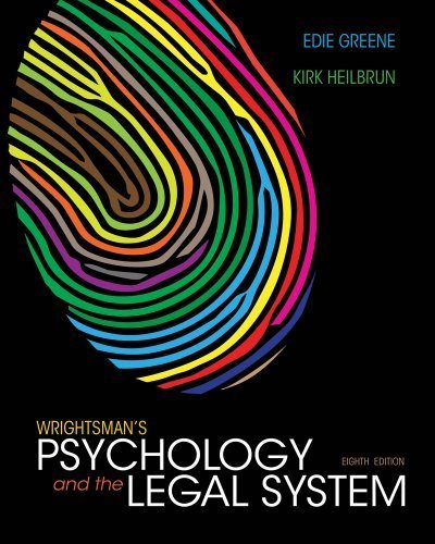 Wrightsman's Psychology and the Legal System 8th (eighth) by Greene, Edith, Heilbrun, Kirk (2013) Hardcover