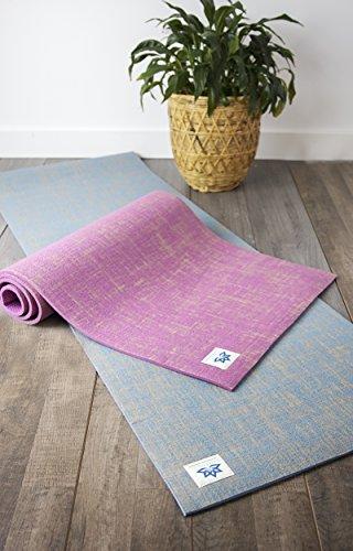 "Natural Jute Fiber Premium Yoga & Exercise Mat with Strap - Durable Extra Thick 8mm Mat - Eco-Friendly & Non-Toxic - Extra Long 72"" - Unique Designer ()"
