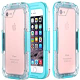 iPhone 7 Plus Waterproof Case, iPhone 7 Plus Case [HEAVY DUTY] Built-in Screen Protector Tough 2 in 1 Clear PC & TPU Rugged Shorkproof Waterproof Cover (Clear/Mint)