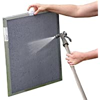12x20x1 Electrostatic Washable Permanent A/C Furnace Air Filter - Reusable - Silver Frame by AirCare