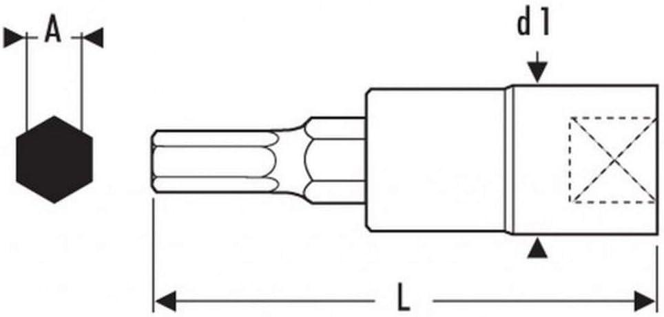/Douille tournevis 1//2/6/pans 17/mm Expert e031910/