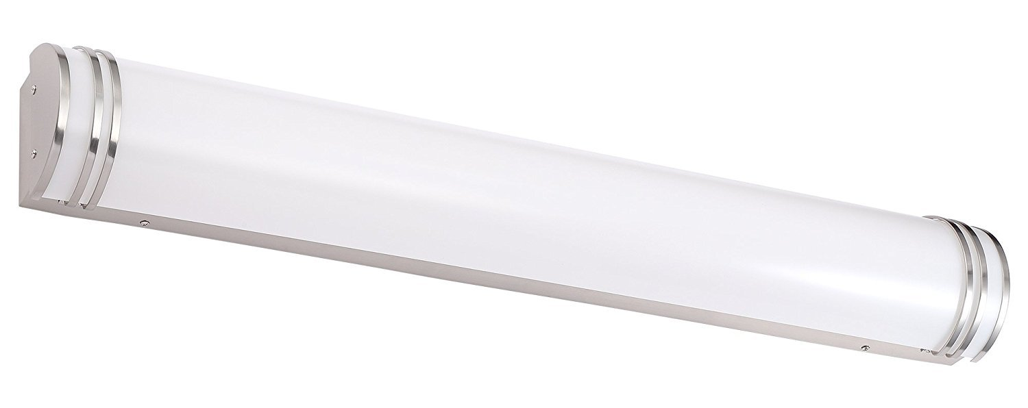 Cloudy Bay LED Bathroom Vanity Light,48 inch 4000K Cool White,35W Dimmable Bath Bar,Brushed Nickel