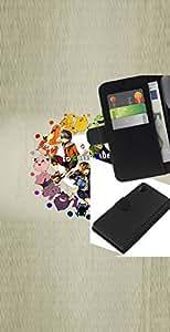 JackGot ( Empuje Monster ) Sony Xperia Z2 D6502 la tarjeta de Crédito Slots PU Funda de cuero Monedero caso cubierta de piel