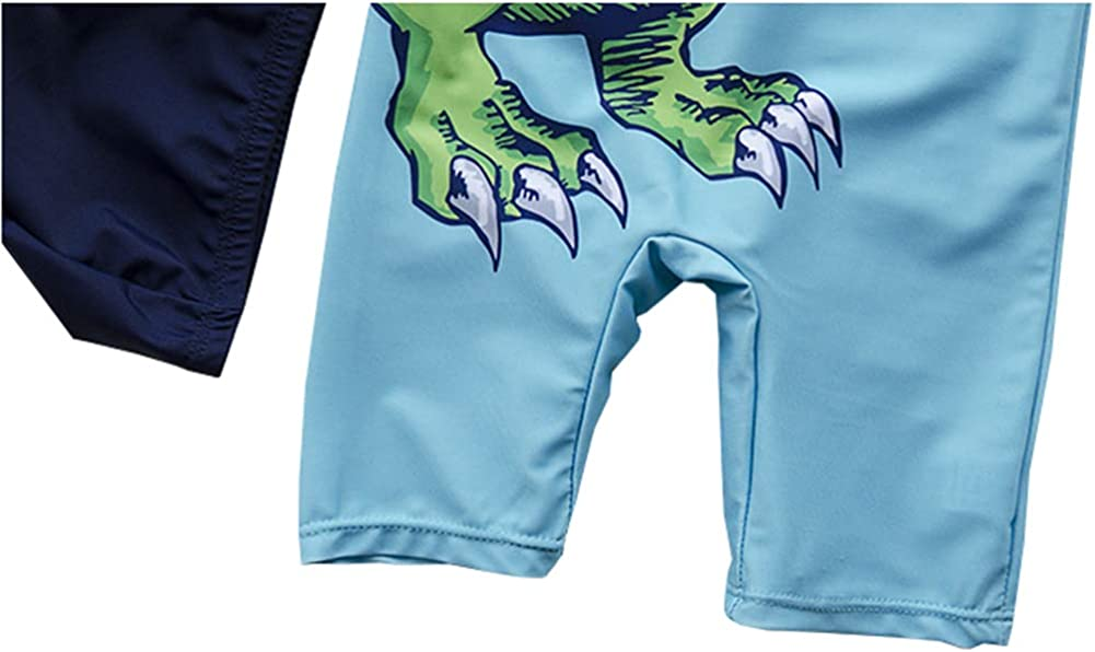 TAIYCYXGAN Baby Todller Boys One Piece Dinosaur Bathing Suit Swimsuit Rash Guards Surfing Suit with Hat