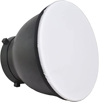 Haoge 7 180mm Soft White Diffuser Sock for Studio Strobe Reflector