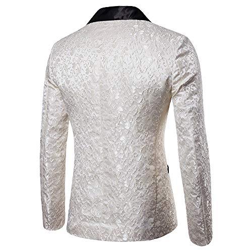 Longues À T Fleurs Homme Blanc Timemean shirt Manches Décontracté xqHpnCw