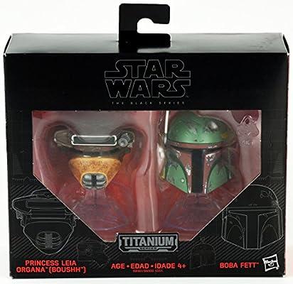 NEW Star Wars Titanium Series Helmets Boushh and Boba Fett #07 Princess Leia