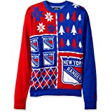 Forever Collectibles NEW YORK RANGERS BUSY BLOCK UGLY SWEATER