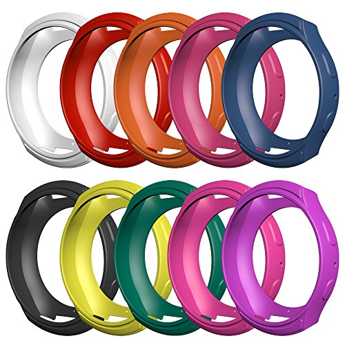 Awinner Samsung Gear S2 (SM-R720/R730)Case, Shock-proof and Shatter-resistant Protective Band Cover Case (NOT FIT S2 Classic SM-R732 & SM-R735) (10-Pack)