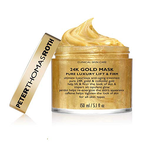 24K Gold Mask Pure Luxury Lift & Firm, Anti-Aging Gold Face Mask, Helps Lift, Firm and Brighten the Look of Skin