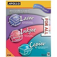 Apollo - All-purpose Transparency Film, 8-1/2x11, 50/BX, Sold as 1 Box, APO UF1000E