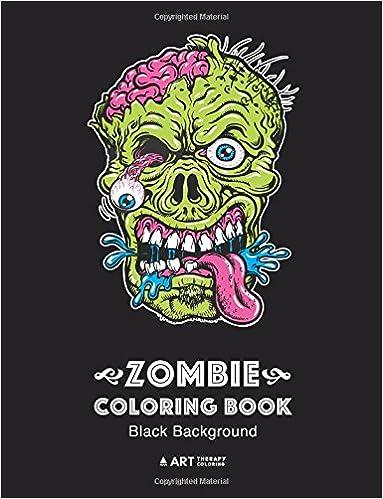 Amazon.com: Zombie Coloring Book: Black Background: Midnight Edition ...