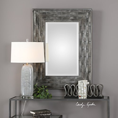 Pantano Industrial Weave Mirror -  cool industrial styled home decor