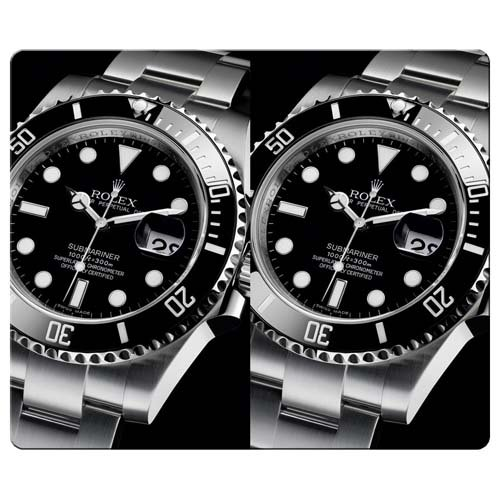 30x25cm 12x10inch Gaming Mouse Pads rubber cloth nonslip backing high performance rolex submariner 116610 watches classic