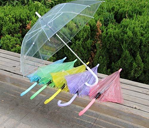 Clear Pvc Umbrella - 50pcs Wholesale Transparent Multicolor Umbrellas Clear Pvc Long Handle Rainproof Sn1106 - Girl Bubble Plastic Arch Votives Mushroom Women Flower Cube Child