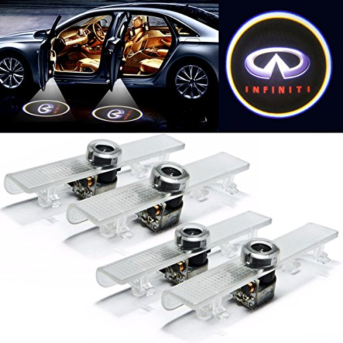 EEEKit 4 PCS Logo Laser Projector Step Door Under Puddle Welcome Lights For Infiniti QX56 QX60 JX Series