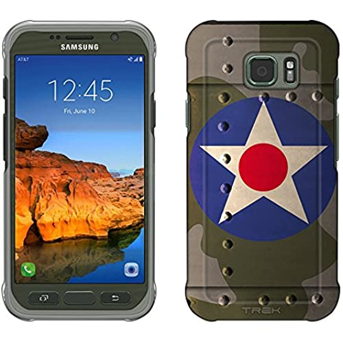 Samsung Galaxy S7 Active Case, Snap On Cover by Trek United States Air Corps War Plane Fuselage Slim Case Sales