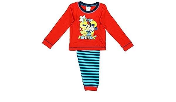 Niño Bebé bebé Mickey Mouse & Goofy Best Friends Pijama rallas desde 6 a 24 Meses - algodón, Rosso, 100% algodón 100%% oficial, De Niño, 12 - 18 Months, ...