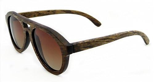 SHINU Occhiali da Sole Polarizzati Fatti a Mano Vetri di Legno Eyewear-Z6140