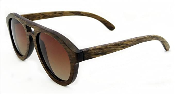 SHINU Polarisierten Sonnenbrillen Handarbeit aus Holz Brillen Gegen UV400 Objektive Sonnenbrillen-Z6140(pear, grey)