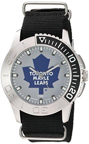(Game Time Men's 'Starter'  Metal and Nylon Quartz Analog  Watch, Color:Black (Model: NHL-STA-TOR))