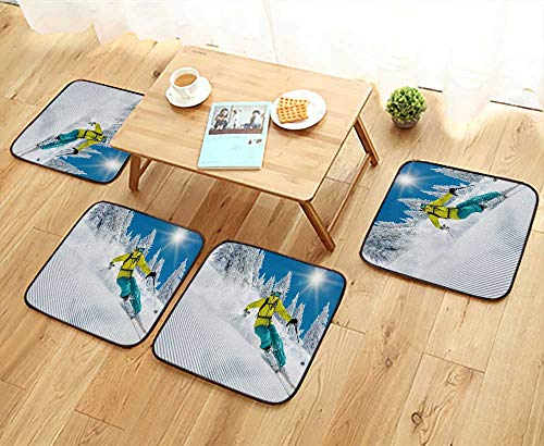 UHOO2018 Luxurious Household Cushions Chairs Freeride in Powder Snow ski Soft and Comfortable W31.5 x L31.5/4PCS Set