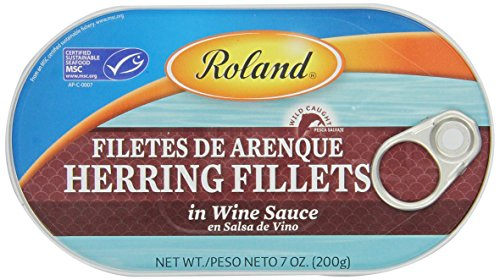 Roland Herring Fillets, Wine Sauce, 7 Ounce (Pack of 6)