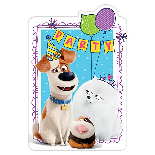 amscan Secret Life of Pets 2 Postcard Invitation (8) (Secret Life Of Pets Birthday Party Invitations)