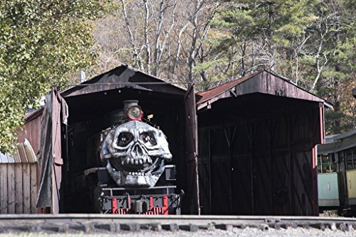 Photo  The narrow-gauge steam locomotives of the Tweetsie Railroad, a family-oriented theme park between Boone and Blowing Rock, North Carolina, are normally quite proper and attractive, 36in x -