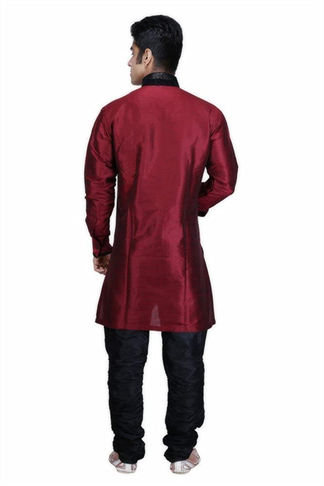 Royal Men's Designer Indo Western Sherwani_Maroon ROYAL-227-MARON--INDOW