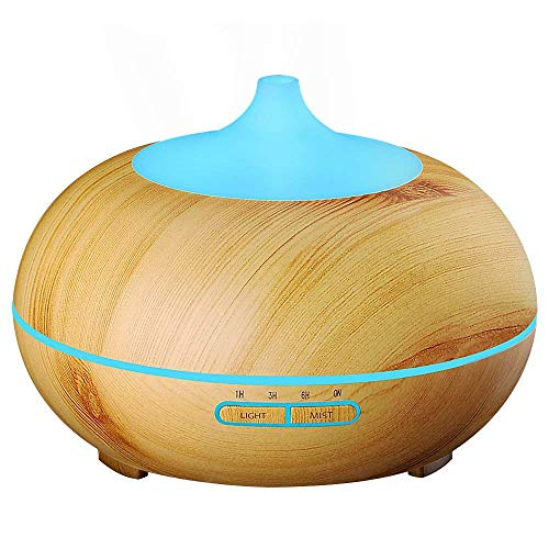 VicTsing 300ml Aroma Essential Oil Diffuser, Wood Grain Ultr
