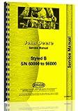 1939 John Deere B Tractor Operator & Parts Manual