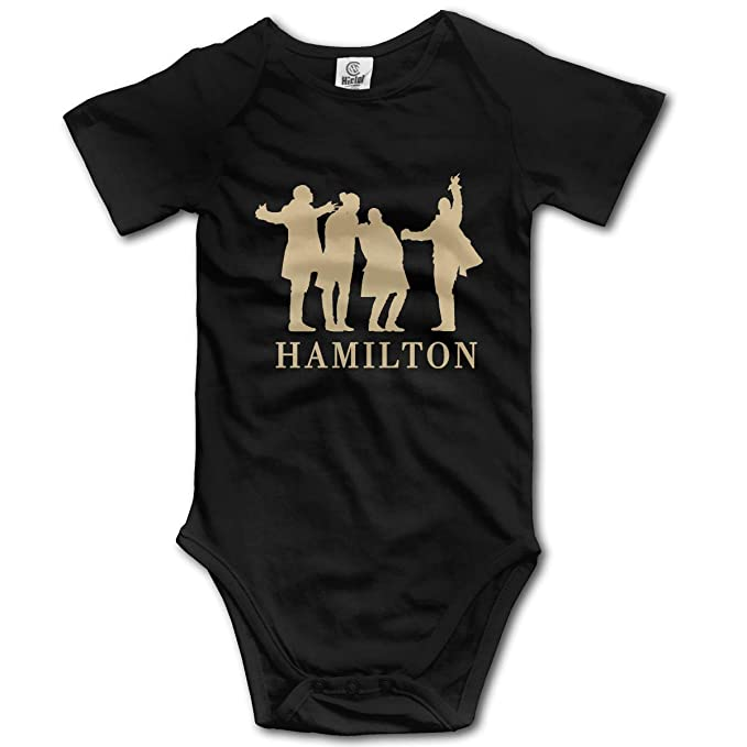 1b23b52ded Hamilton Musical Poster Baby Boys' Girls' Short-Sleeve Bodysuit Jumpsuits  One-Piece
