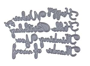 Felicitación de acero Craft troqueles de goma sello