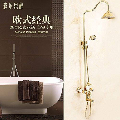 Accesorios de baño Caribou@Grifo de lavabo grifo del fregadero baño cocina Lavabo europeo antiguo cobre agujero dos manija baño caliente y frío