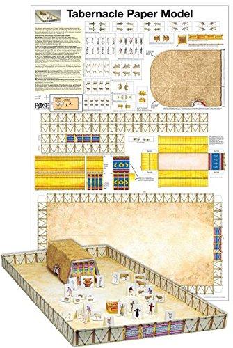 Tabernacle Paper Model-Laminated (Paper Model of the Tabernacle) (Model Of The Tabernacle)