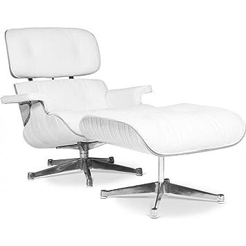 Lounge sessel holz leder  Amazon.de: Lounge Sessel von Eames, Weiß, Holz, Leder, Weiß