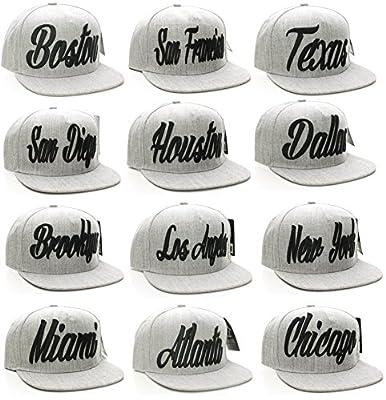 American Cities Snapback USA Script Flat Bill Snap Back Cap Hat Cap