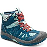 Merrell Capra Mid Waterproof Hiking Boot (Toddler/Little Kid/Big Kid),Turquoise,4 M US Big Kid