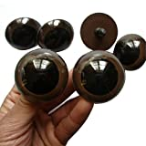 100PCS Brown Plastic Safety Eyes for Bear Doll Stuffed Animals Puppet Doll Making(24mm/0.94'')
