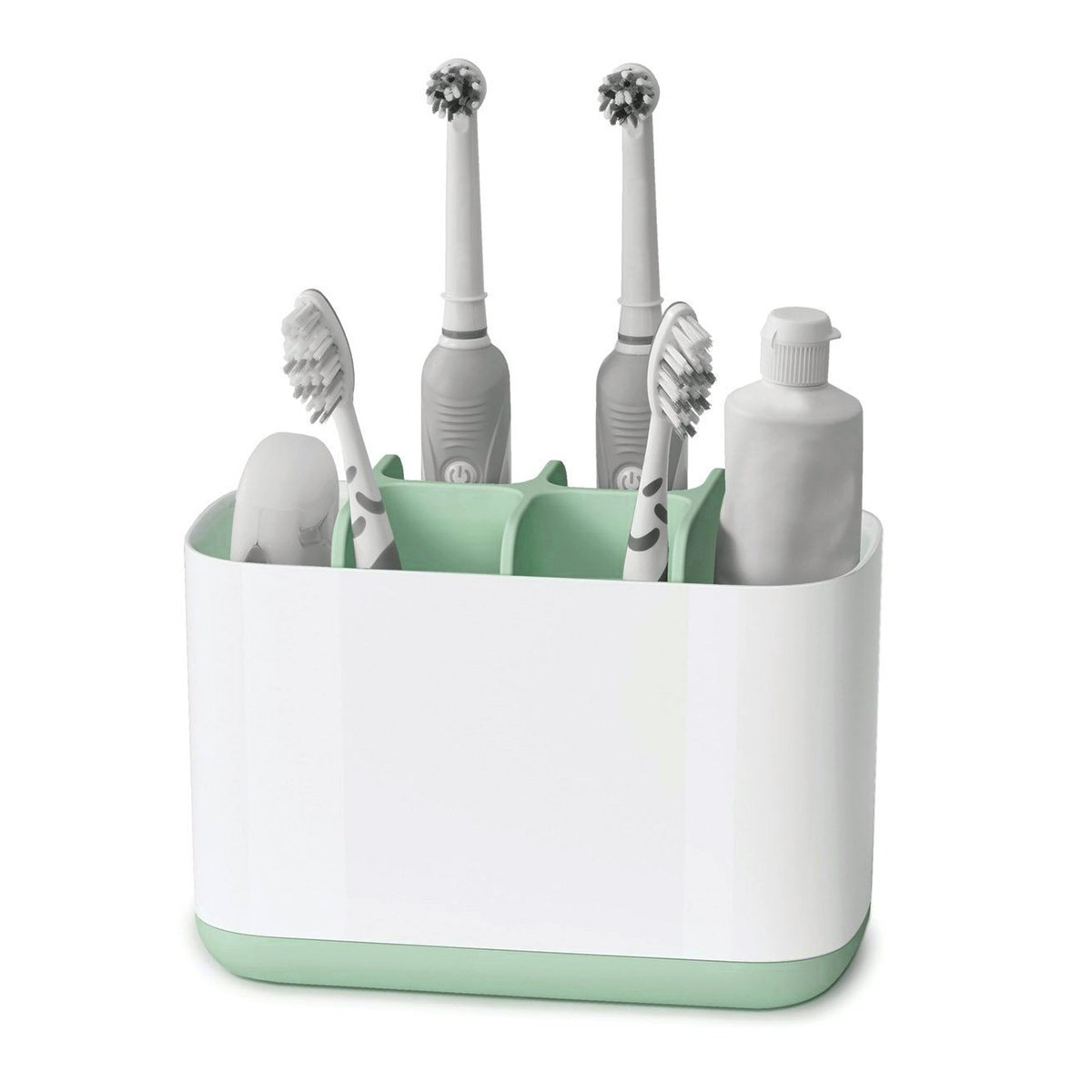 Kunbao Toothbrush Holder Cup Bathroom Toothpaste Stand,ABS+PP+TPR Storage Rack Set (large)