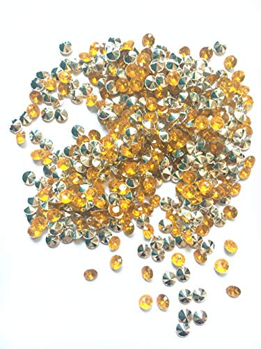 Briliant Shop 8mm Acrylic Color Faux Round Diamond Crystals Treasure Gems for Table Scatters, Vase Fillers, Event, Wedding, Arts & Crafts (1000 pcs) (Gold & Silver) ()