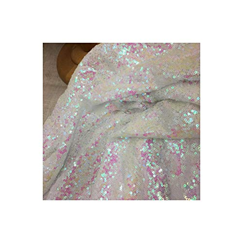 Elegant New Pattern Wedding Rose Gold Sequin Table Runner,12 Inch by 108 Inch,Iridescence from Sevennights