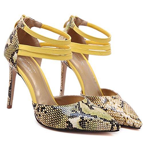 Red Snakeskin Pointed D2C Heel Pumps Women's Toe Beauty High Stiletto zqzaE6x