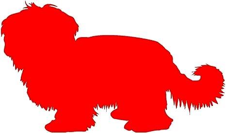 Samunshi Havaneser Hunde Aufkleber Autoaufkleber Sticker